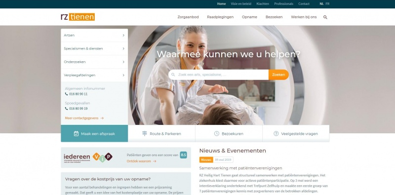 Nieuwe website met online afspraken